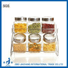 6pcs/set kitchen glass jar and rack