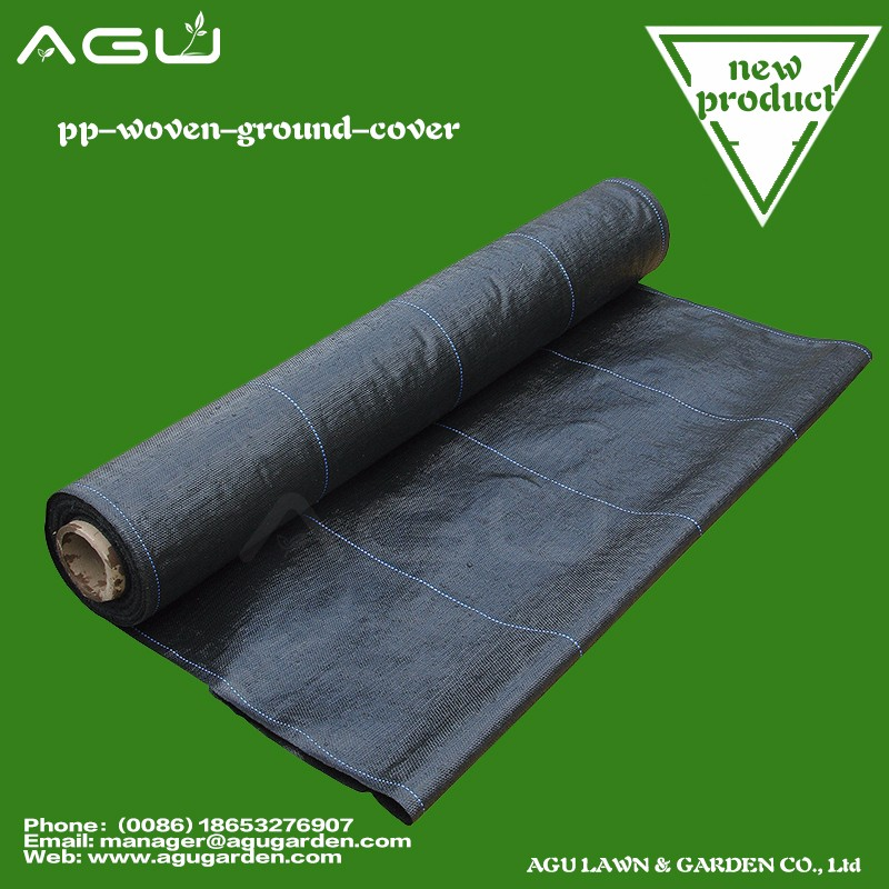 UV-treated Fruit Orchards Woven black polypropylene ground cover reflect sunlight black or green weed mat