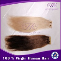 Factory Cheap 100% Super best 7a Quality 613# Brazilian Virgin Tape In Hair Extentions