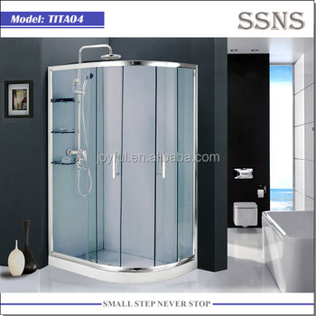 5mm tempered glass 3 sided shower enclosure TITA04