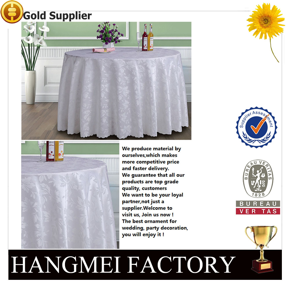 Fashion Modern High Quality Embroidery Pattern Polyester Table Cloth