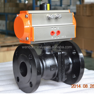 Carbon Steel Flanged Ball Valve with Pneumatic Actuator