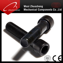 Metric Black Oxide Screw Alloy Steel DIN912 Grade12.9 Hex Socket Head Cap Screw with Fine Thread (SCM435/440)
