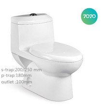 Chaozhou cheap Big Outlet Hole Wash down One Piece Sanitary Ware Toilet for children T062