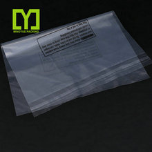 2017 Alibaba China Self Seal Suffocation Warning Plastic OPP Clear Poly Bags