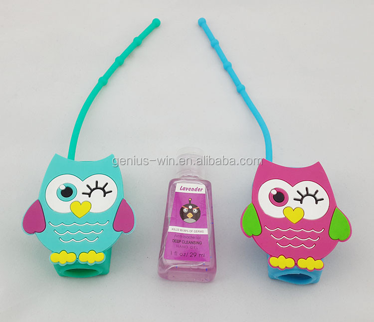 Owl CUTE bath body works Silicone SANITIZER holder 30ml animal silicon sanitizer holder