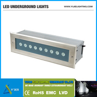 YJD-0014 IP67 IP65 9W RGB waterproof LED outdoor inground linear uplights / recessed uplight / landscape lighting