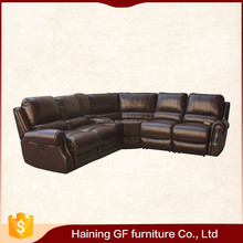 Modern leather corner sectional sofa add the power recline mechanism