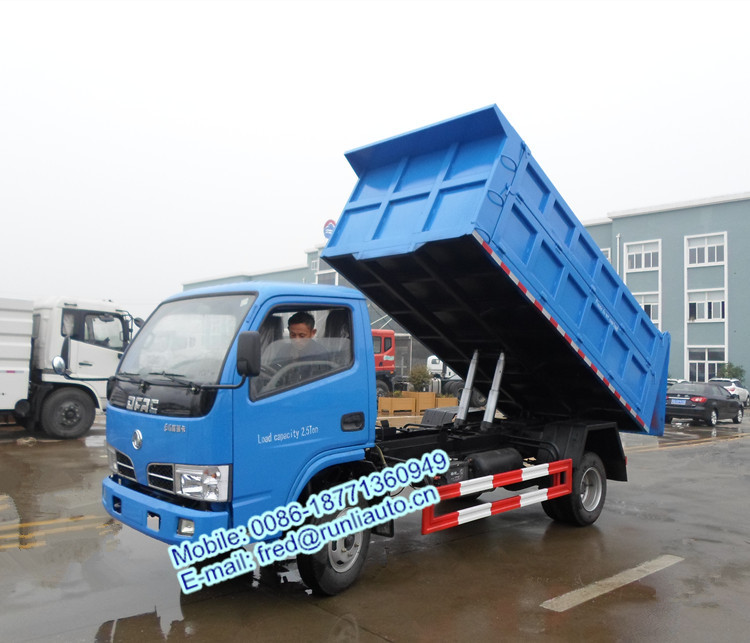 Factory supplied Dongfeng Frika 4X2 6 wheel 3 ton garbage transport dump truck for sale in Burma