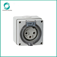 IP66 waterproof explosion proof 250v 500v 10A 13A 15A 20A 32A 40A 50A singele phase three phase electric extension socket outlet