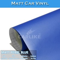 SINO Air Bubble Free Matt Pearl Blue Motorcycle Body Protective Film