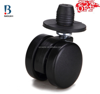 "2016 china discount cost-effective 1.5"" black mini duty office furniture caster wheels with nylon cap"