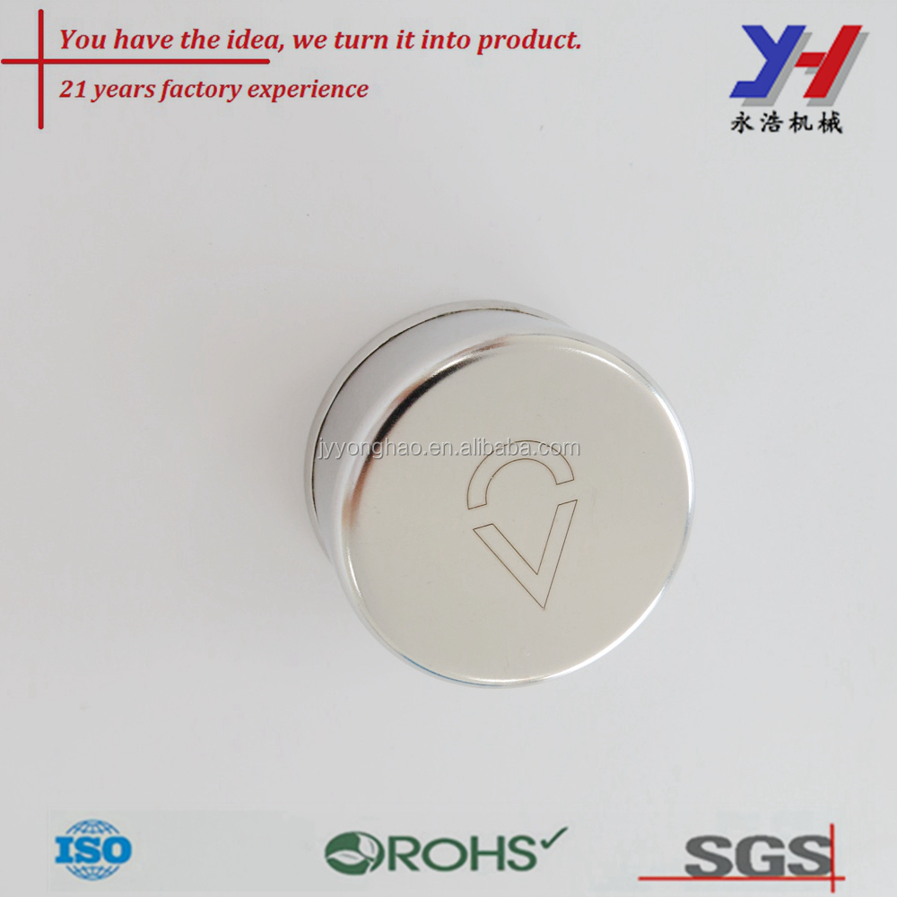 OEM ODM Customized Stainless steel water bottle lid with Laser etching lettering