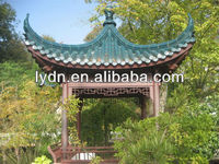 Green Chinese tiles decorative roofing materials