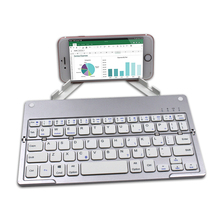 Portable Mini Ultra Slim Thin Foldable Folding Bluetooth Wireless Keyboard for iPad Pro Mobile Phone Tablet PC