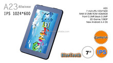 "Cheap 7"" A23 Dual Core 1024*600 Used Tablet Capacitive Easy Touch Tablet"