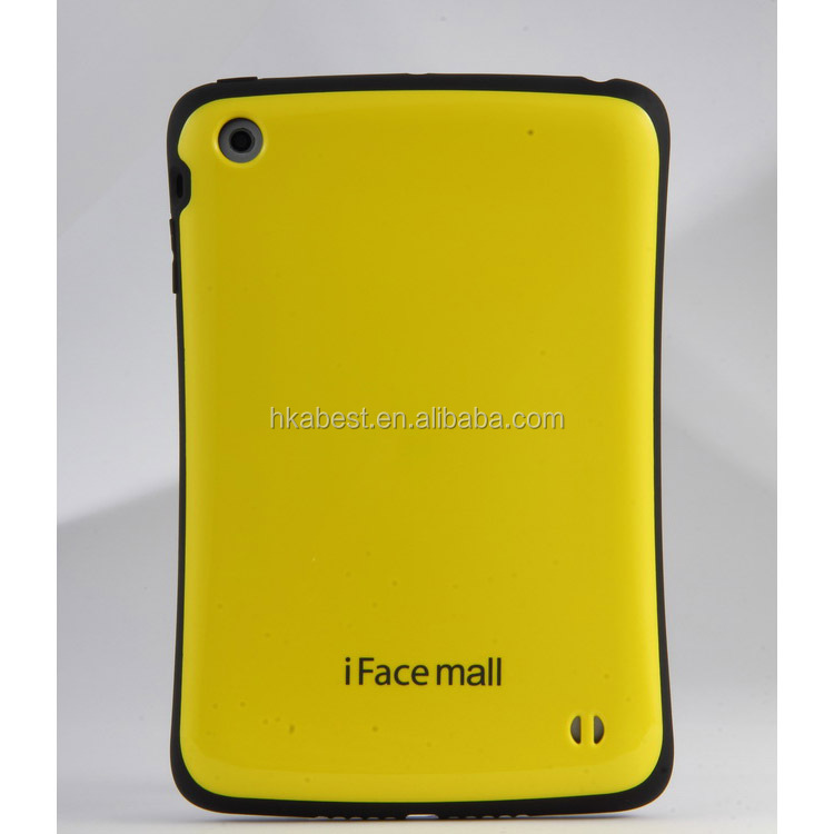 2014 New Model iface Mall PC Silicone Fashionable Cover For Ipad 2/3/4 Mix Color