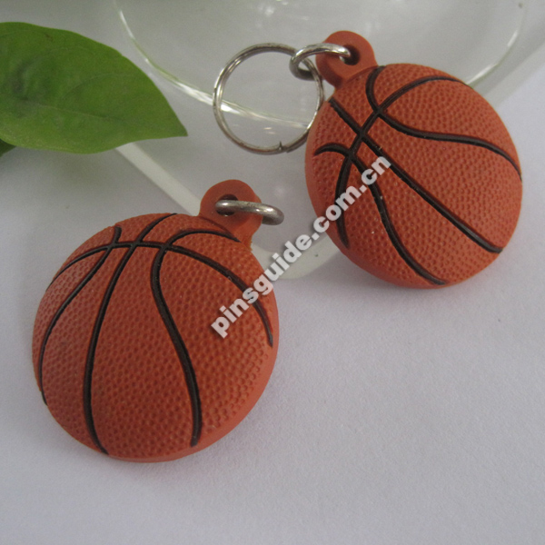 Soft PVC Basketball Bottle Opener with key chain