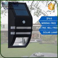 PIR Motion Sensor Outdoor LED Solar Garden Light Waterproof Wall Lamps Porch Fence stair Yard balcony Lights For Garden Decor