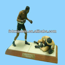 Famous Sportsman Resin Boxing Figurine for Sale
