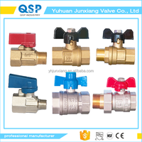 free sample brass 1 inch scrd cupper butterfly ball valve seat female and male manual by 1/2 inch