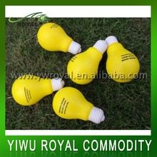 Custom Logo Imprint Soft Foam Anti Light Bulb Stress Ball