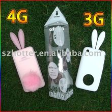 rabbit silicone case for iphone5