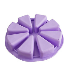 8 Triangle Cavity Silicone Portion Cake Mold Slices Pastry Pan Pizza Slices Pan