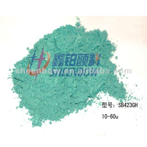 GREEN Yellow Mica pearlescent powder (SB3423H)