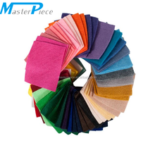 G DIY Polyester Felt Fabric Nonwoven Sheet for Craft Work 42Colors 15*15cm