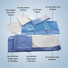Nonwoven medical surgical pack set for C-Section surgery /Caesarean section