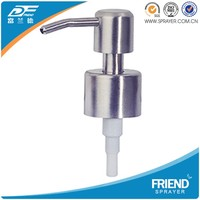 Stainless steel soap lotion pump,stainless steel 28/410 lotion dispenser pump,304 stainless steel lotion dispenser