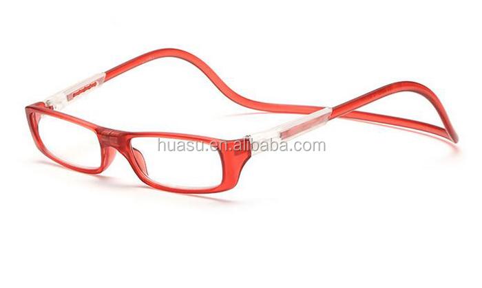 new magnetic reading glasses with Magnetic bridge and Hang neck style presbyopic glasses