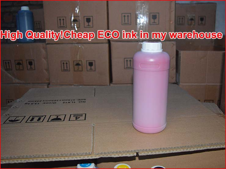 High quality!! Cheap price eco-solvent ink for DX5/DX6/DX7 print heads