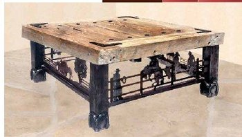 Coffee Table - Old American Wild West 19th Cen CBT694
