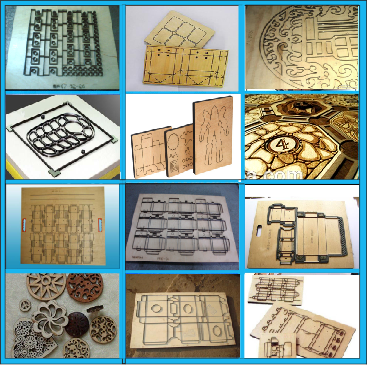 printed fabric packing box dies laser cutting machine
