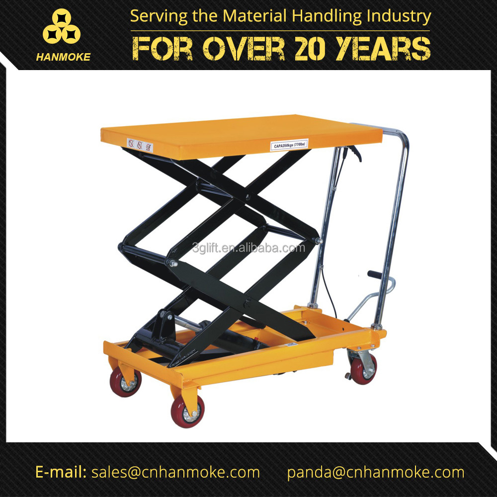 350kg Double Scissor Hydraulic Portable Scissor Lifter