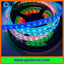 DC5V 74LEDs rgb color digital ws2812B LED strip, white/black FPCB, IP40, IP65, IP67