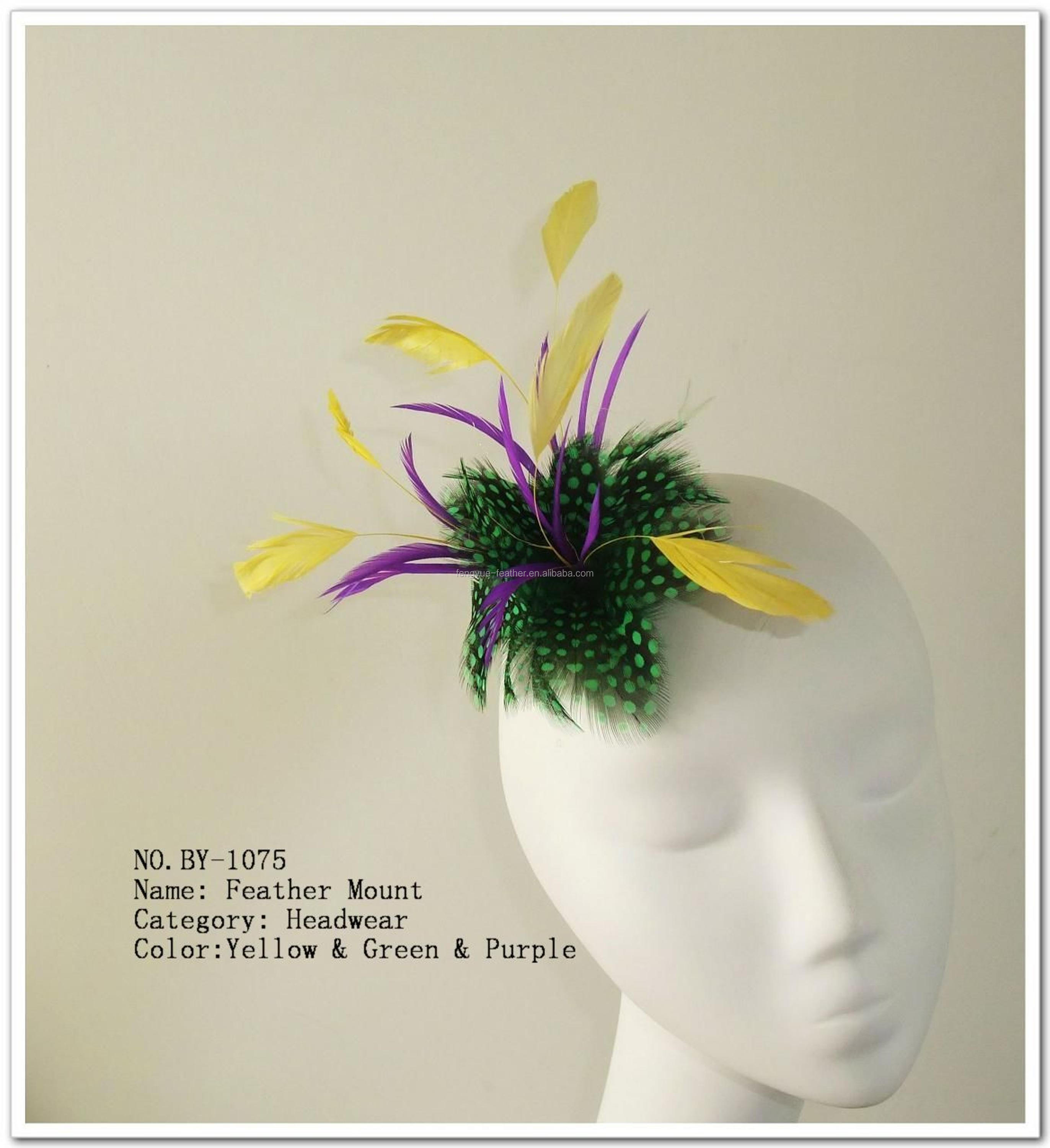 Feather flower /feather mount/feather fascinator