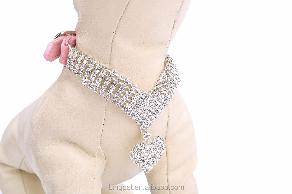 Wholesale Rhinestone Dog Collar Pet Puppy Cat Crystal Collars Girl Jeweled Party Necklace
