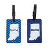 PU loop attached standard size signature panel back side plastic luggage tag