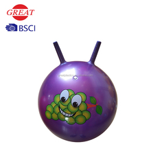 Inflatable PVC toys hopper ball with handle jumping ball