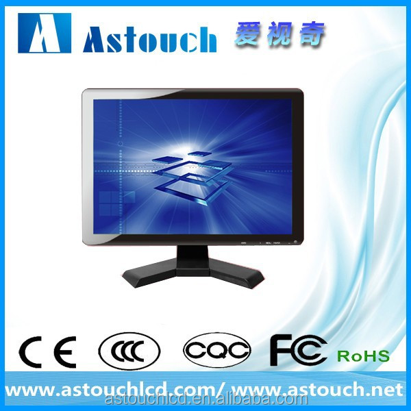 ASTOUCH 15 inch desktop LCD monitors/industrial computer monitors/LED touch screen monitor