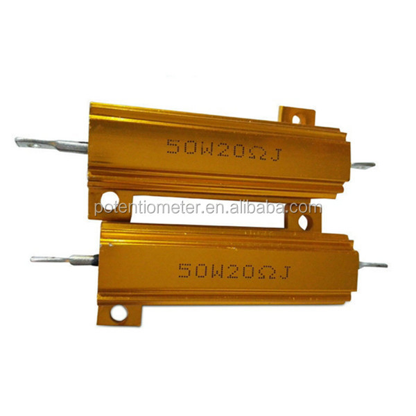 RX24 gold aluminum housed power resistor 100W 50R