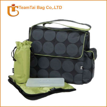 Polyester diaper bag dot diaper bag