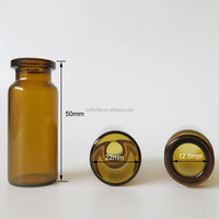 Free sample 10ml amber medicine glass vial for injection