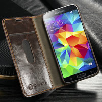 book style flap case for samsung s5 mini leather wallet case