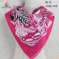 2015 individual western elements design customized high quality digital printed 100% silk twill scarves