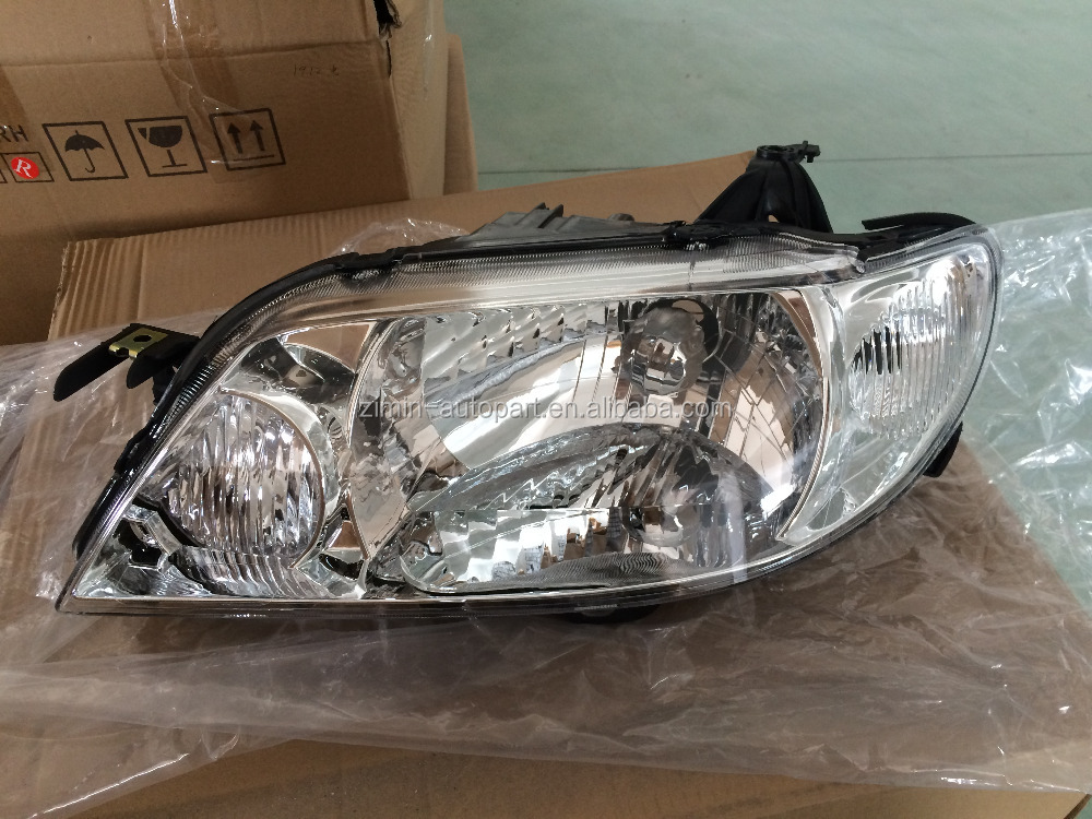 HEAD LAMP,CHROME FOR MAZDA 323 01-03 JH06-323-001A