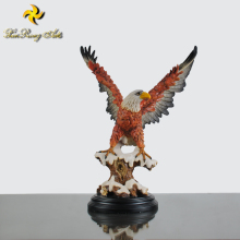 Resin colorful animal ornament glede statue American bald eagle sculpture